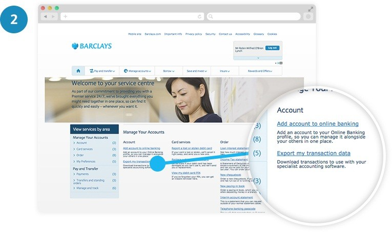 Add account to Online Banking