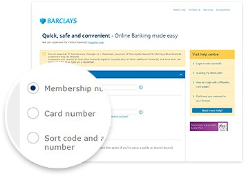 Log in to Online Banking