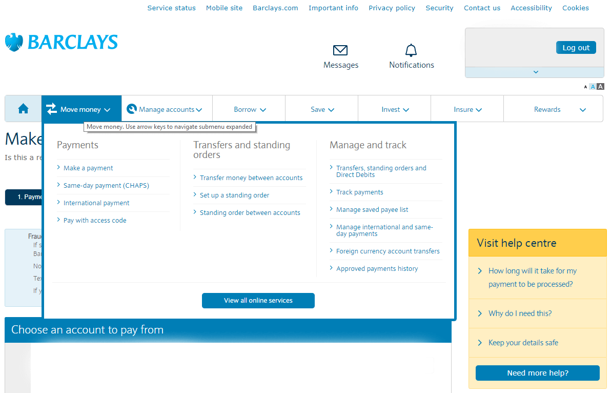 Add new payees and make payments | Barclays