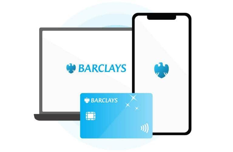 Icon of devices and a Barclays card