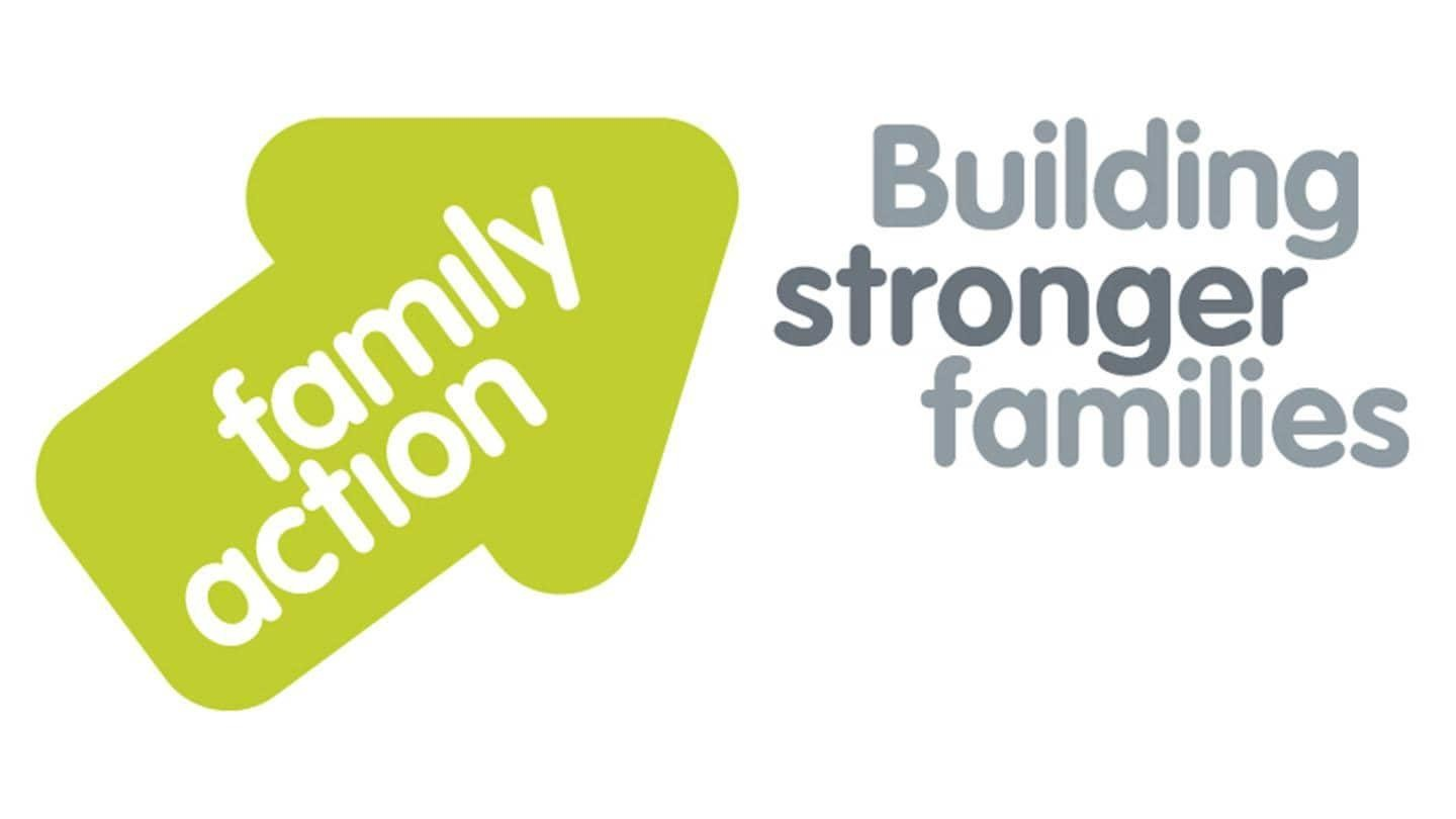 Building stronger families - Family action Logo