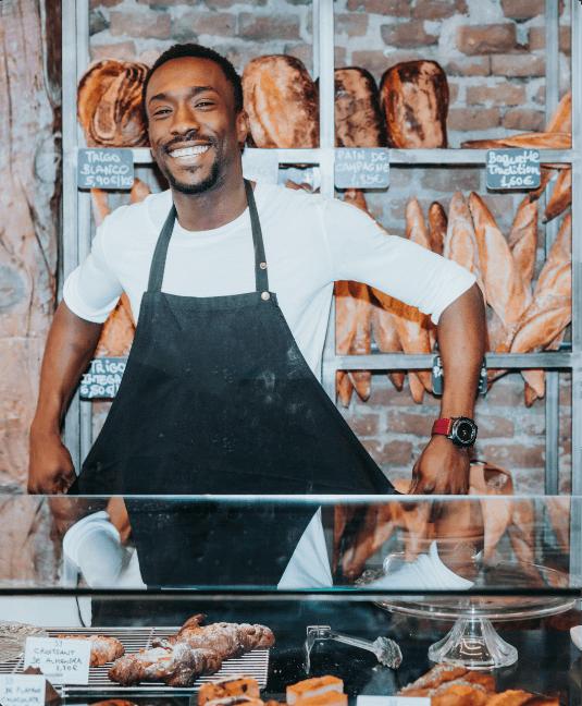 man in bakery