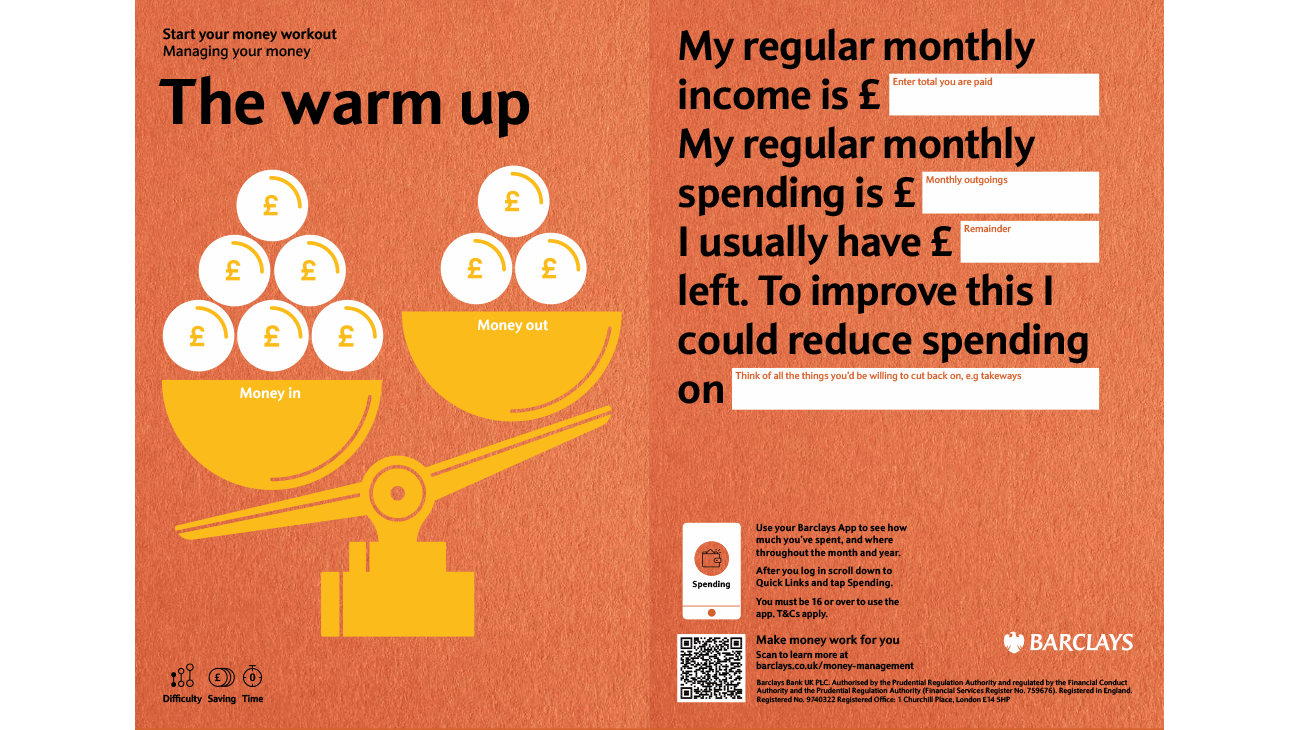 The warm up card