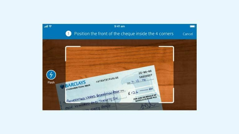 Pay in a cheque with your mobile | Barclays
