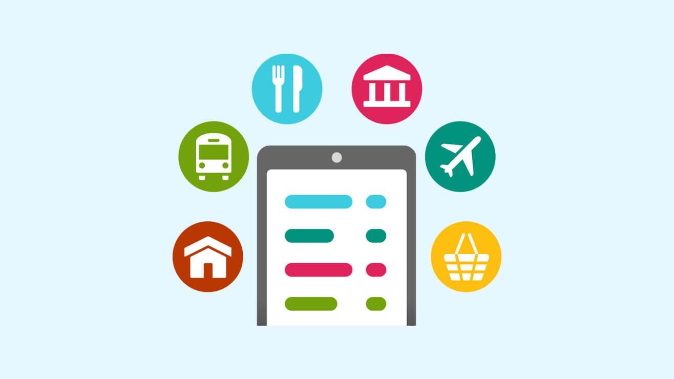 Mobile phone spending icon