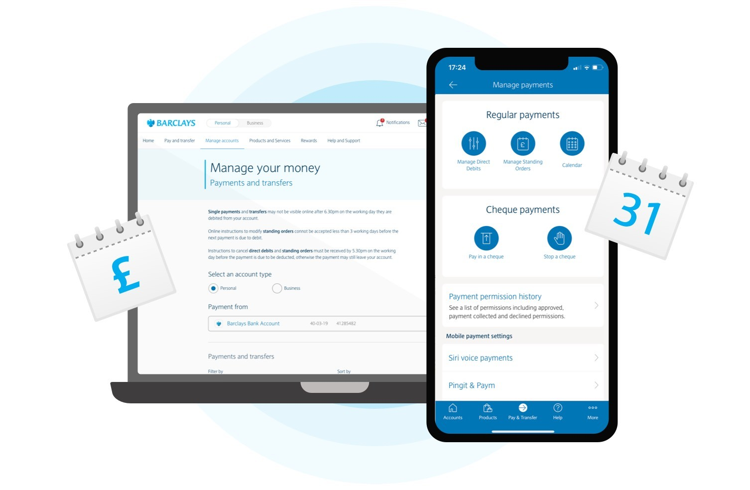Manage your regular payments