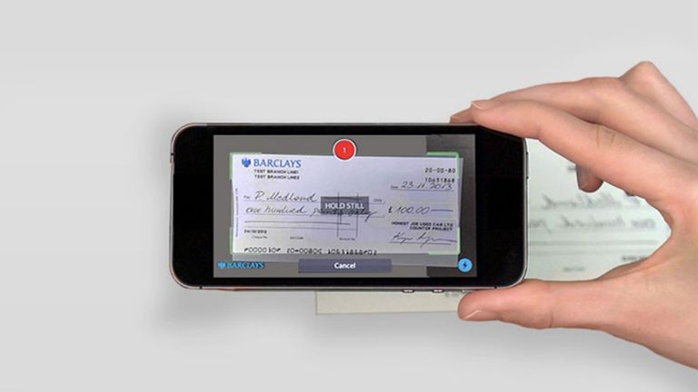 Smartphone and cheque