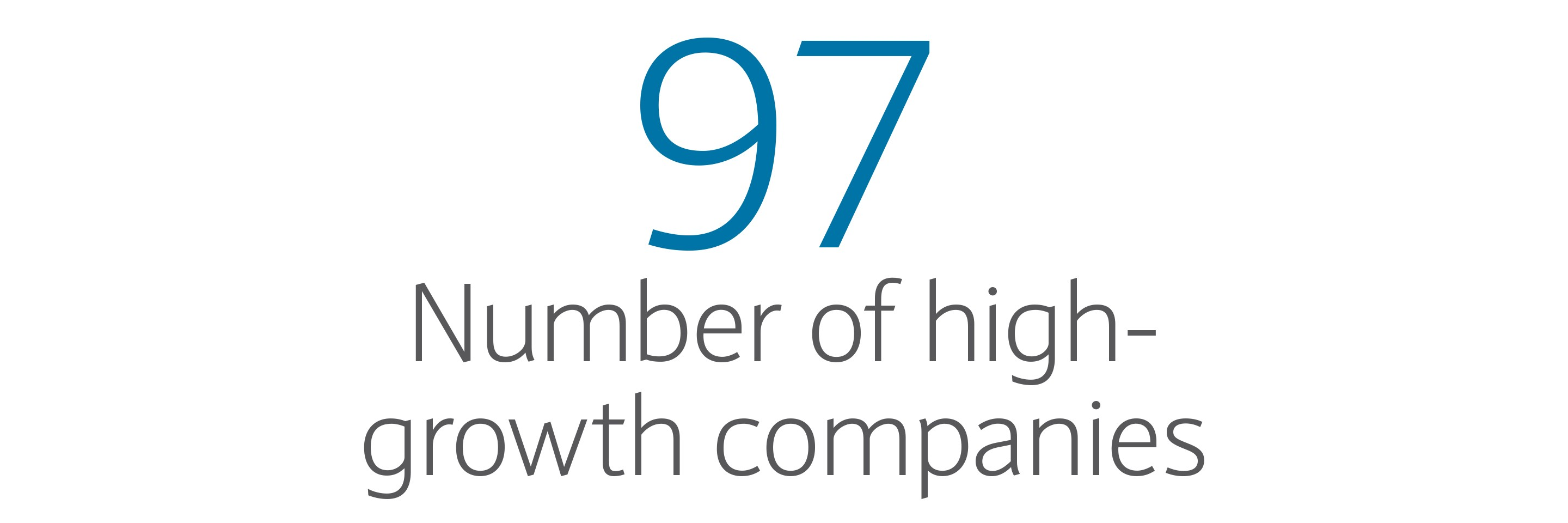 97: Number of high-growth companies