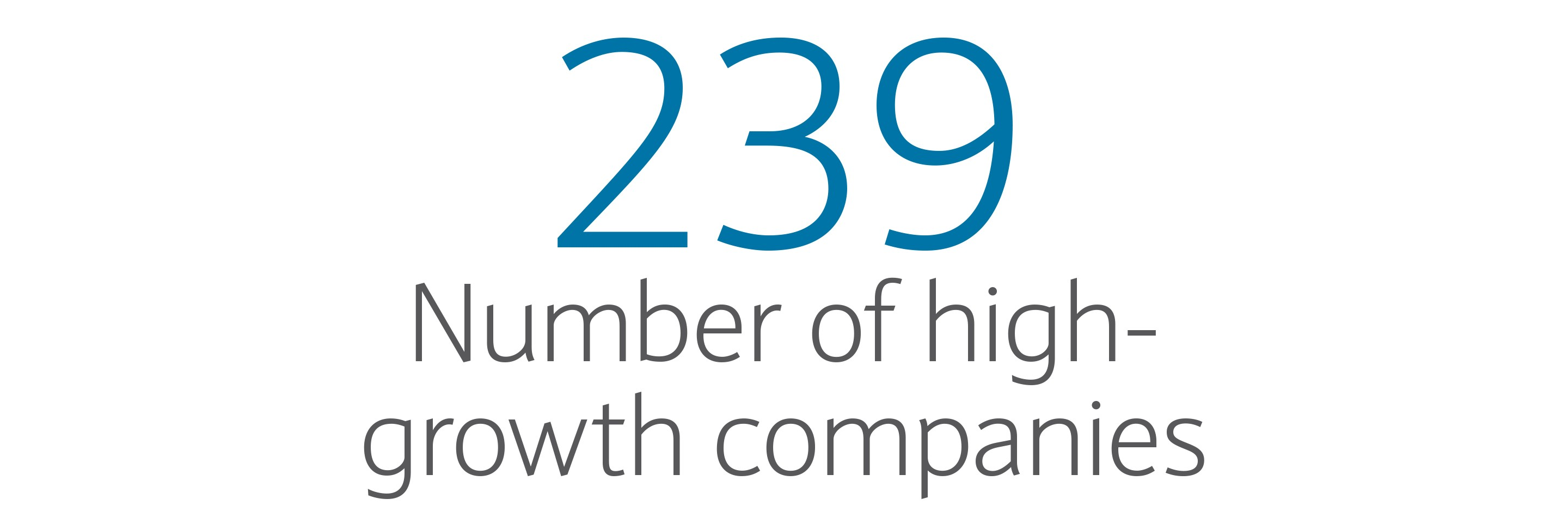 239: Number of high-growth companies