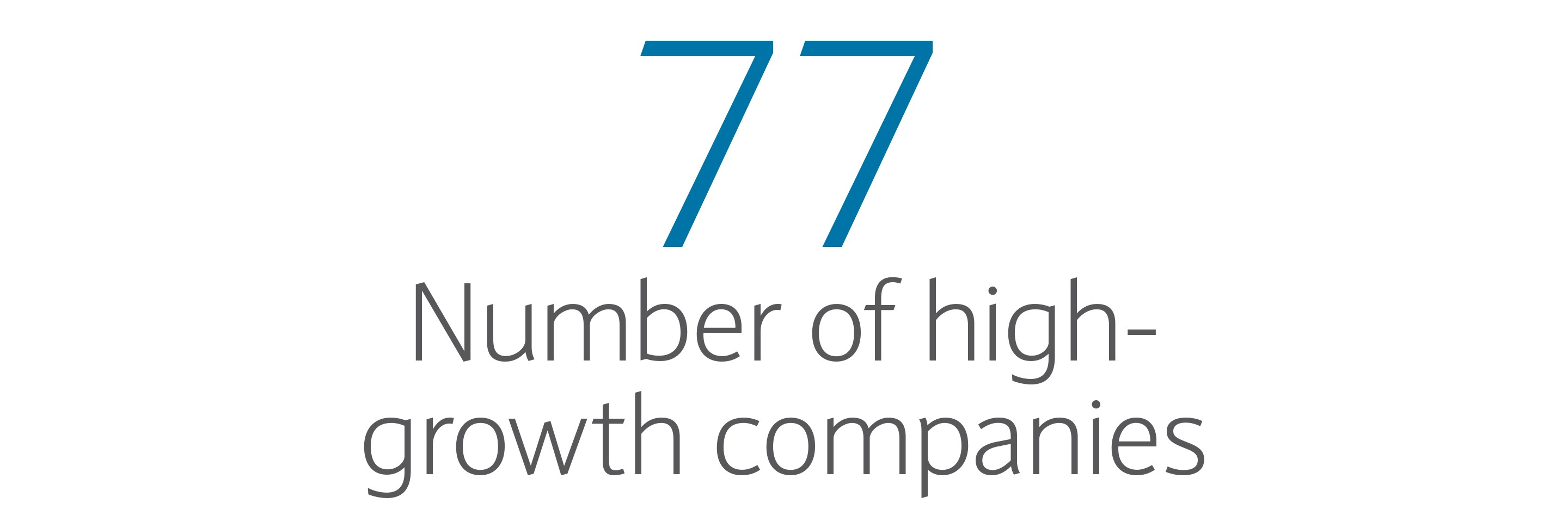 77: Number of high-growth companies